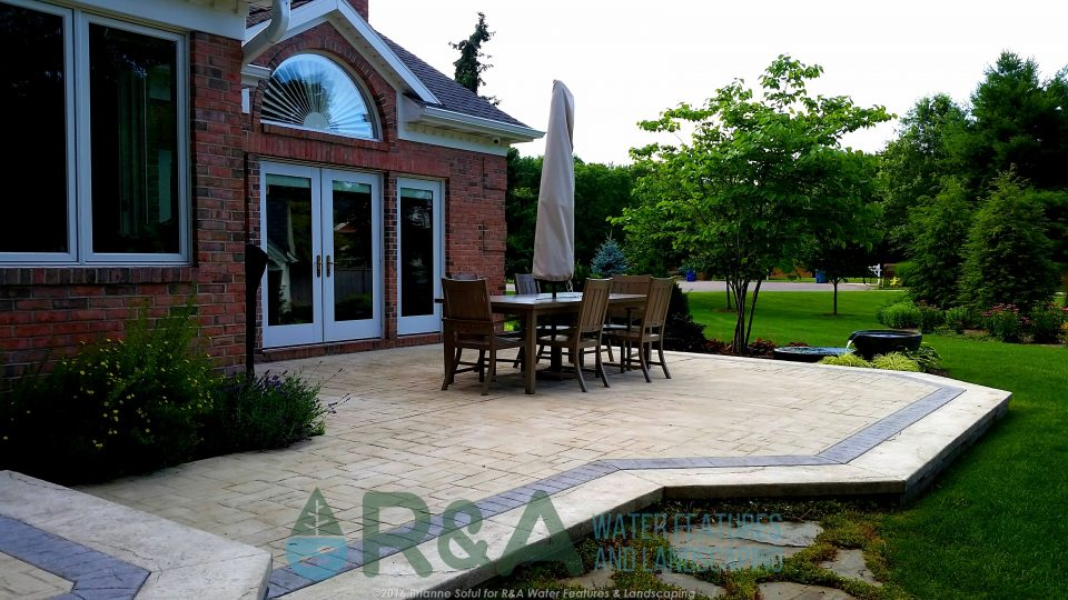 Landscape Water Feature Decorative Fountain Shade Garden Kalamazoo MI
