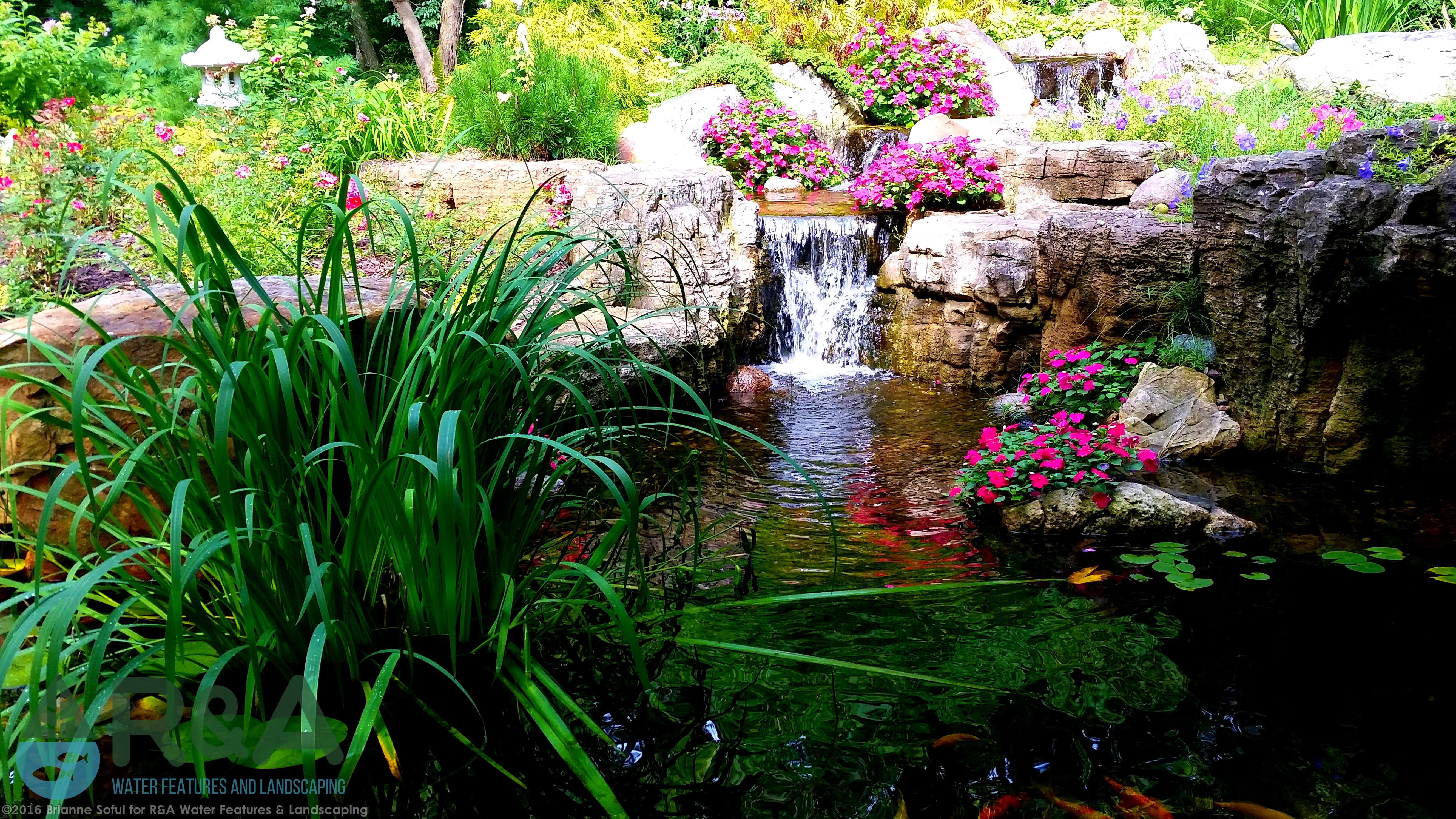 When You See A Beautiful Pond What Do I Generally Rocks Boulders And Stones On The Edge Of Sometimes Gold Or White Fin