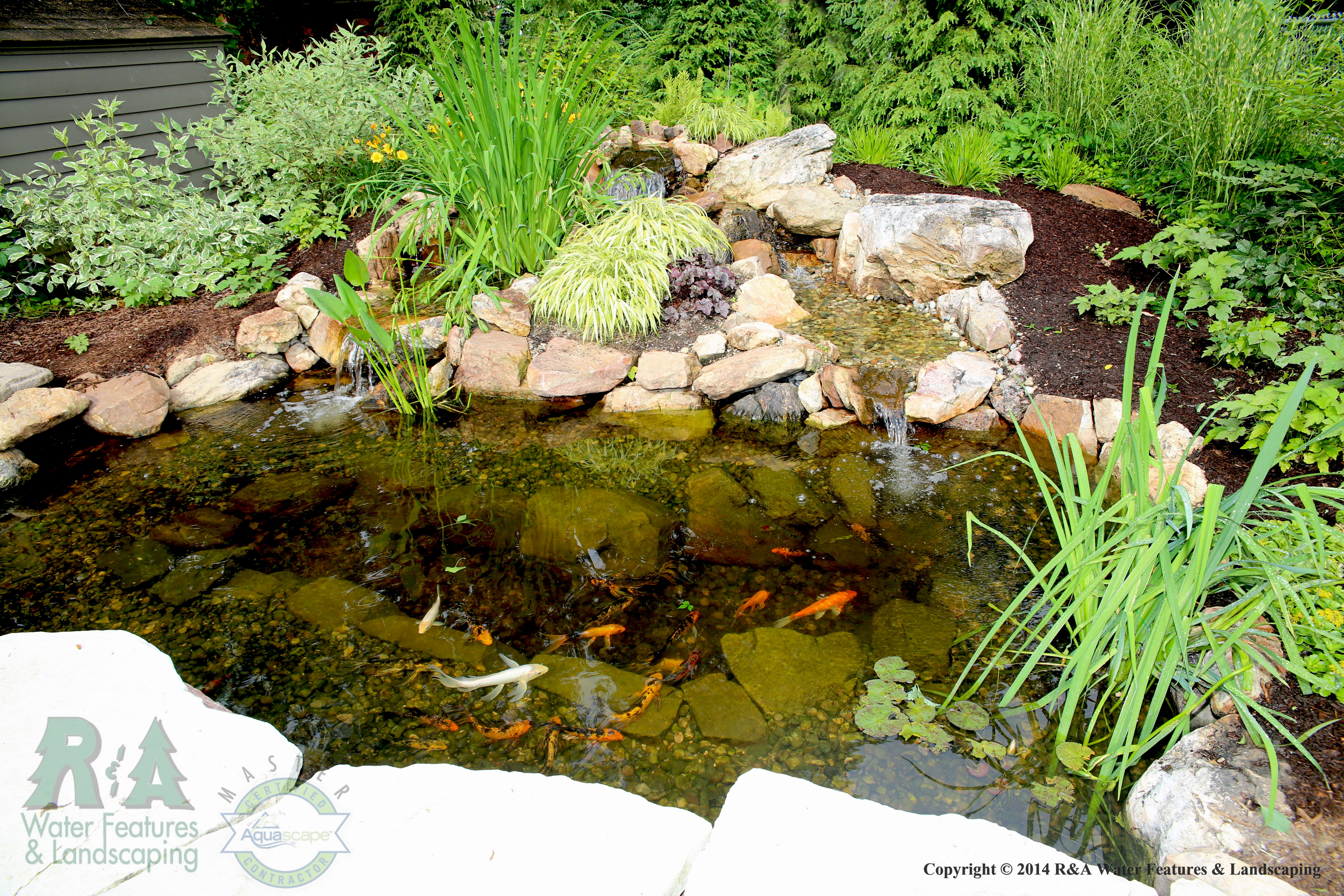 What is an ecosystem pond r a landscaping for Garden pond skimmer