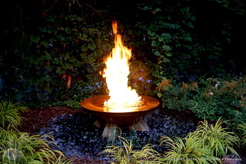 Fire Water Feature R A Water Features And Landscaping