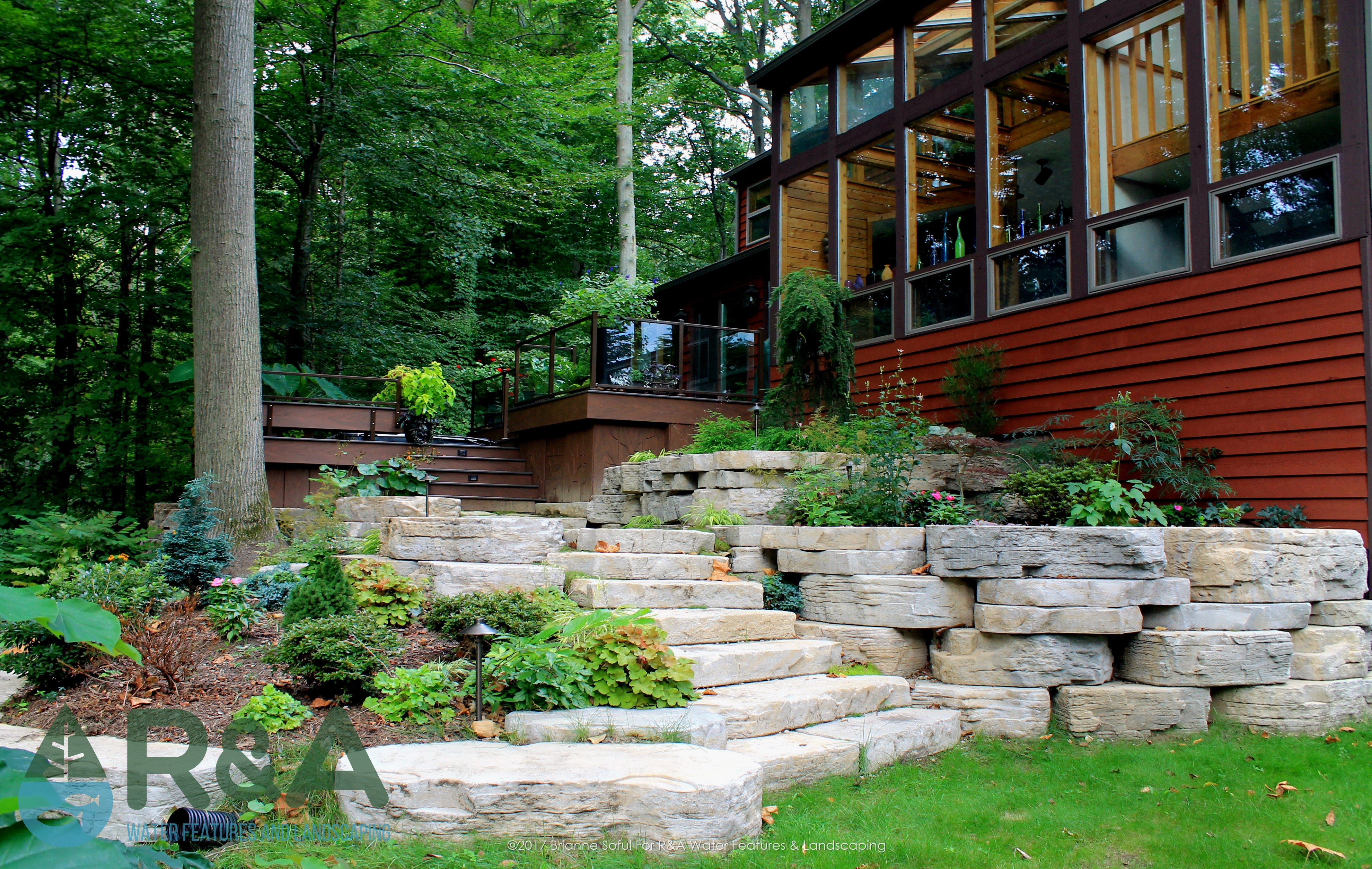 Eau Claire Landscaping Retaining Wall Steps Deck (2)