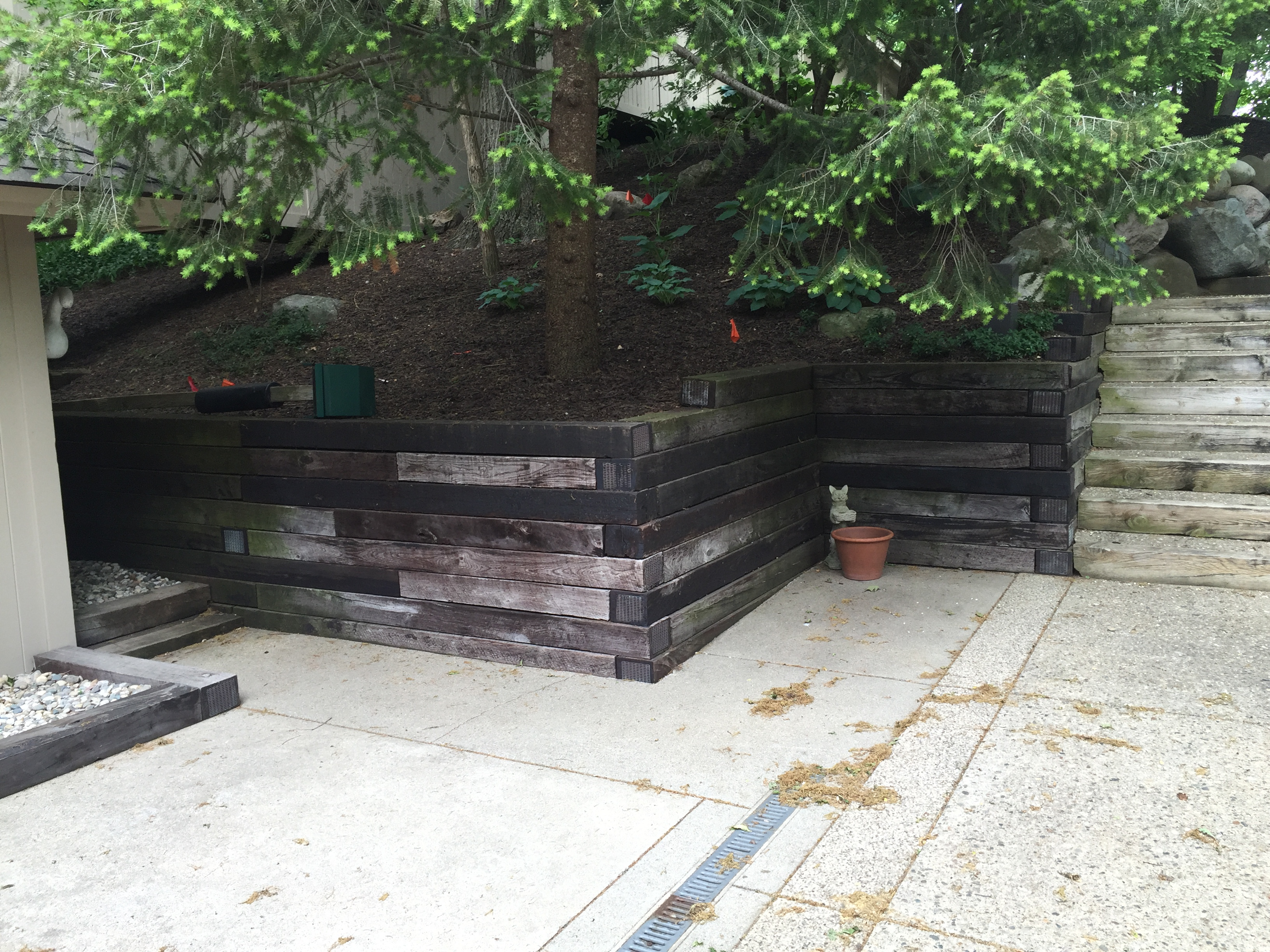 Gull Lake Retaining Wall Renovation Landscaping 3