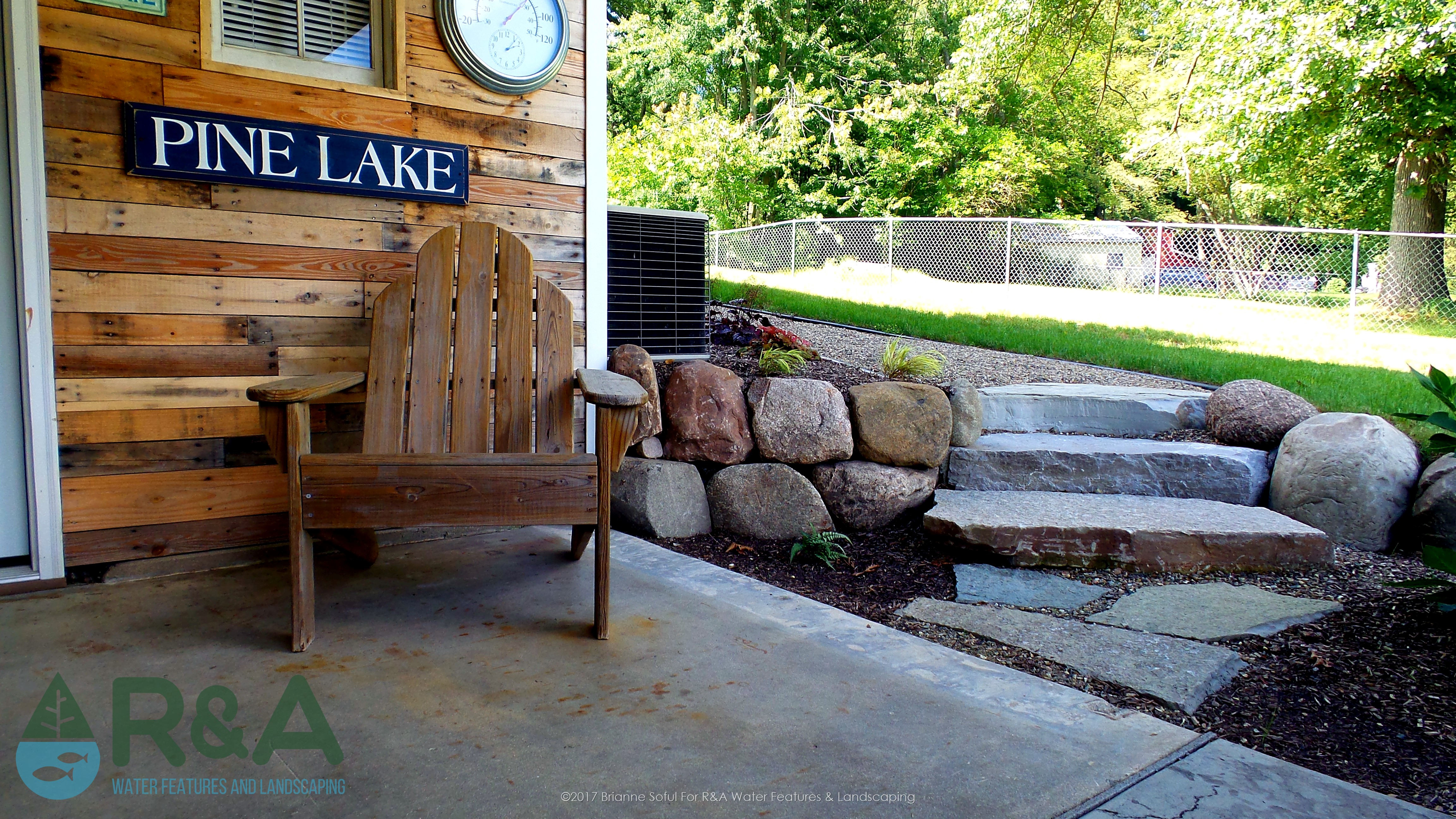 Richland Lakeside Outdoor Living With Fire Pit Patio Landscape
