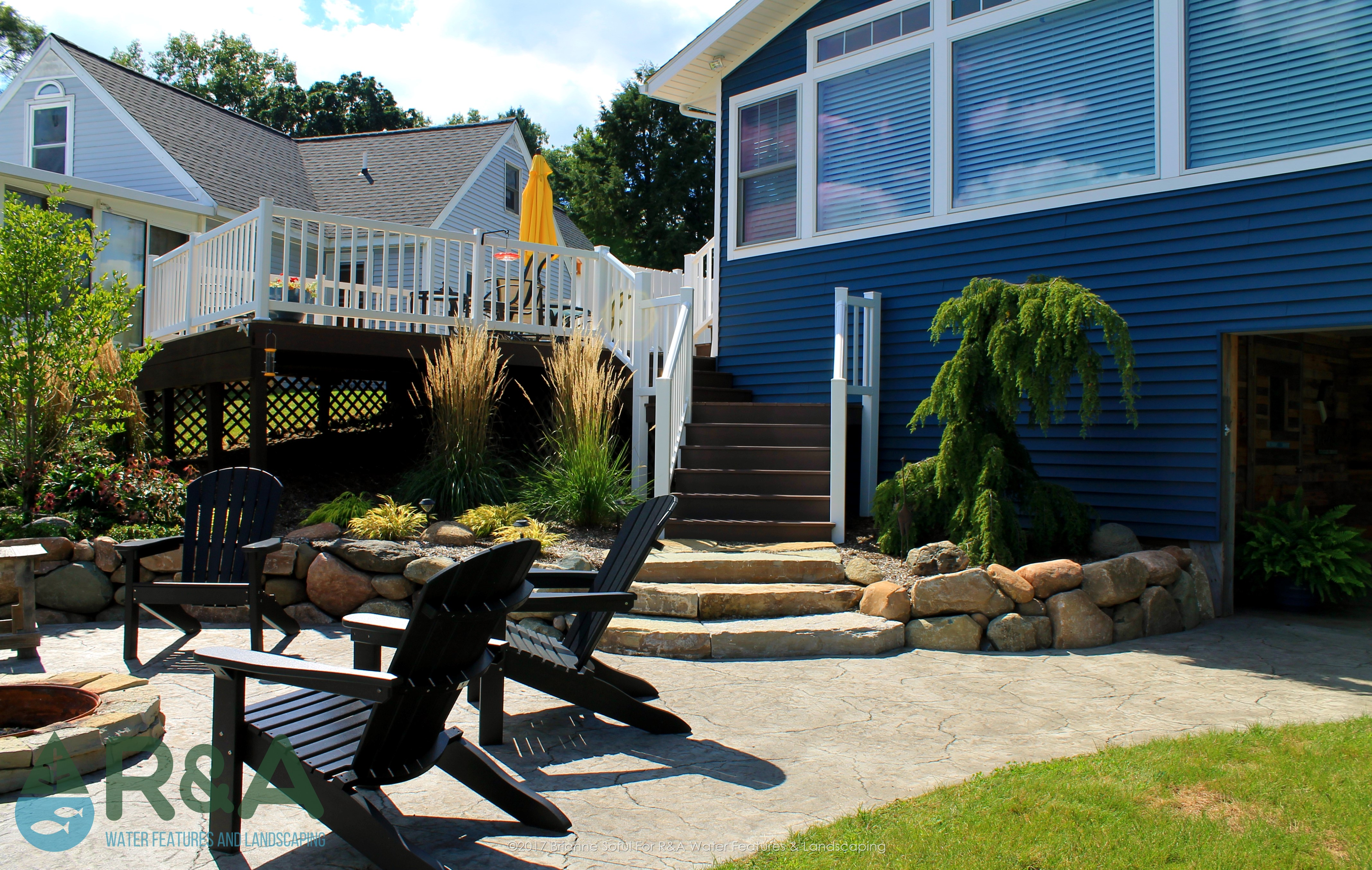 Richland Landscaping Patio Fire Pit Retaining Wall Steps 4