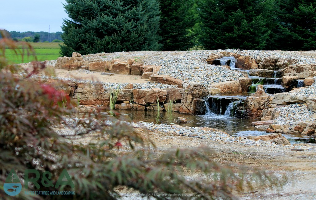 Ada pondless water feature landscape lighting r a for Fish pond installers