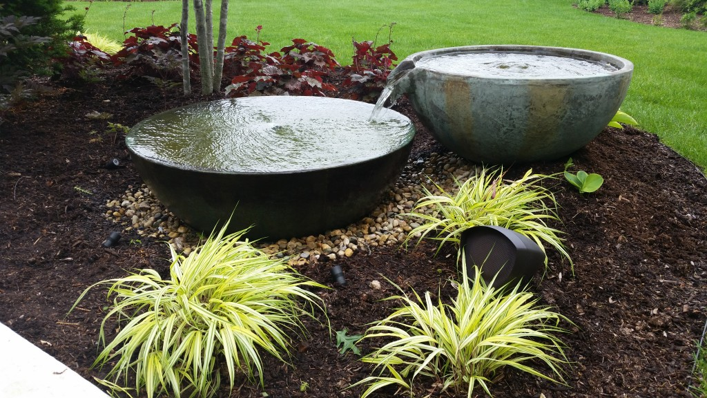 Water Feature Design Ideas Spillway Bowl Kalamazoo