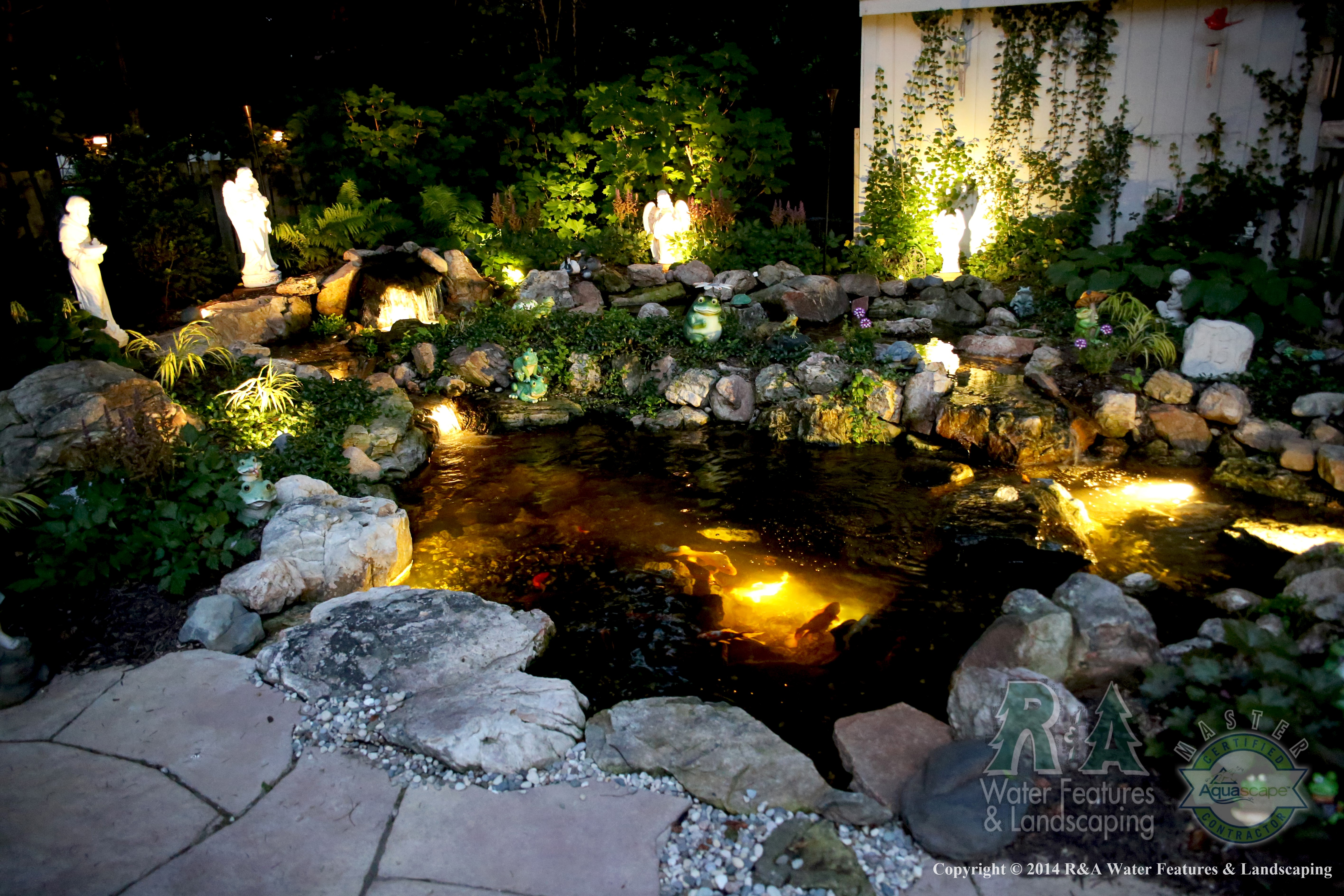 pond lighting costs other common lighting questions r a landscaping