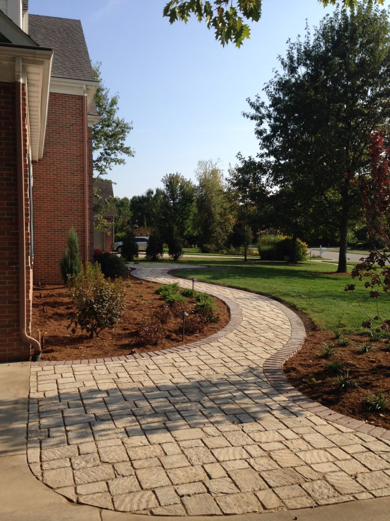 Stevensville Walkway & Landscaping Project - Pavers