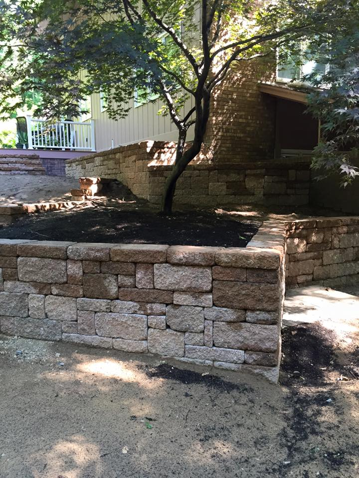 Berrien Springs Retaining Wall Landscaping