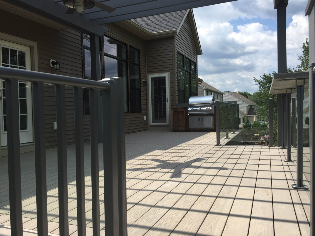 Grand Rapids Outdoor Home Improvement Project - Pergola - Deck - Built In Grill - Spiral Staircase