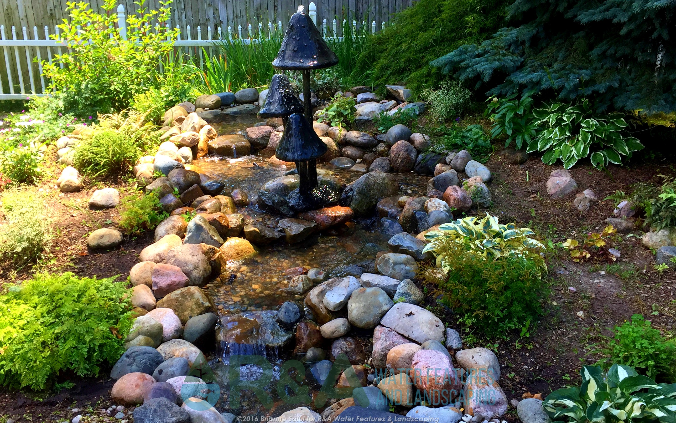 Pondless water feature kalamazoo decorative fountain small