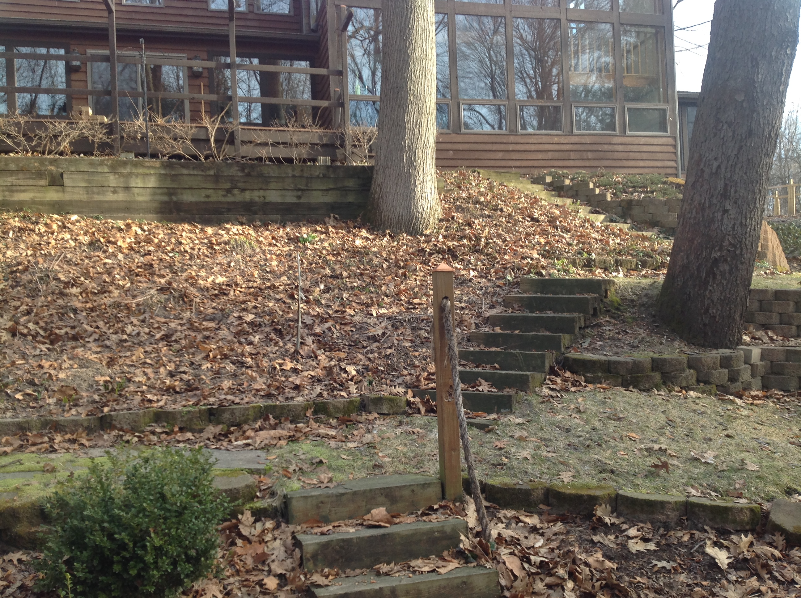 Eau Claire Landscape Renovation Retaining Wall Deck Steps Landscape Plants (2)