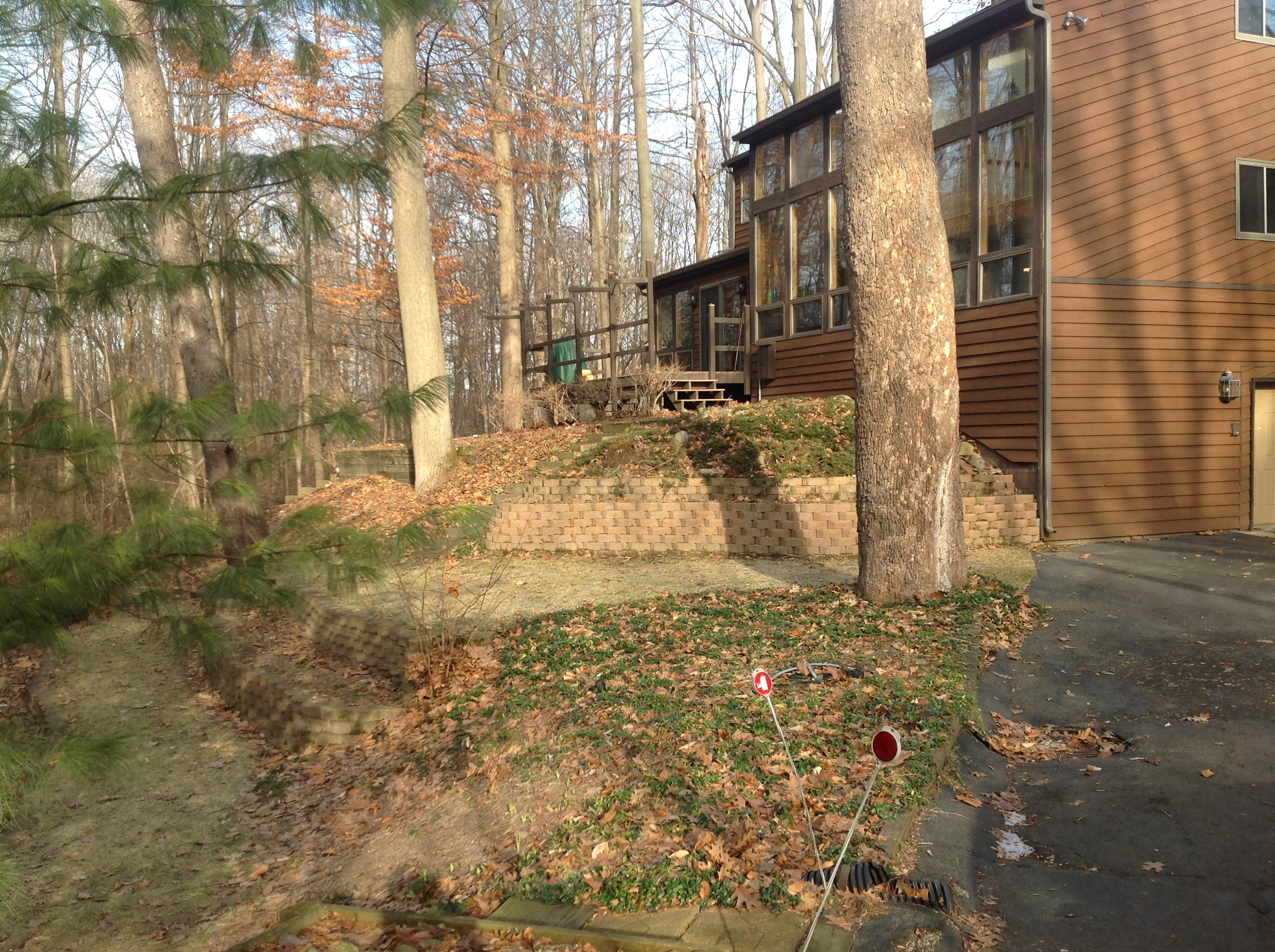 Eau Claire Landscape Renovation Retaining Wall Deck Steps Landscape Plants