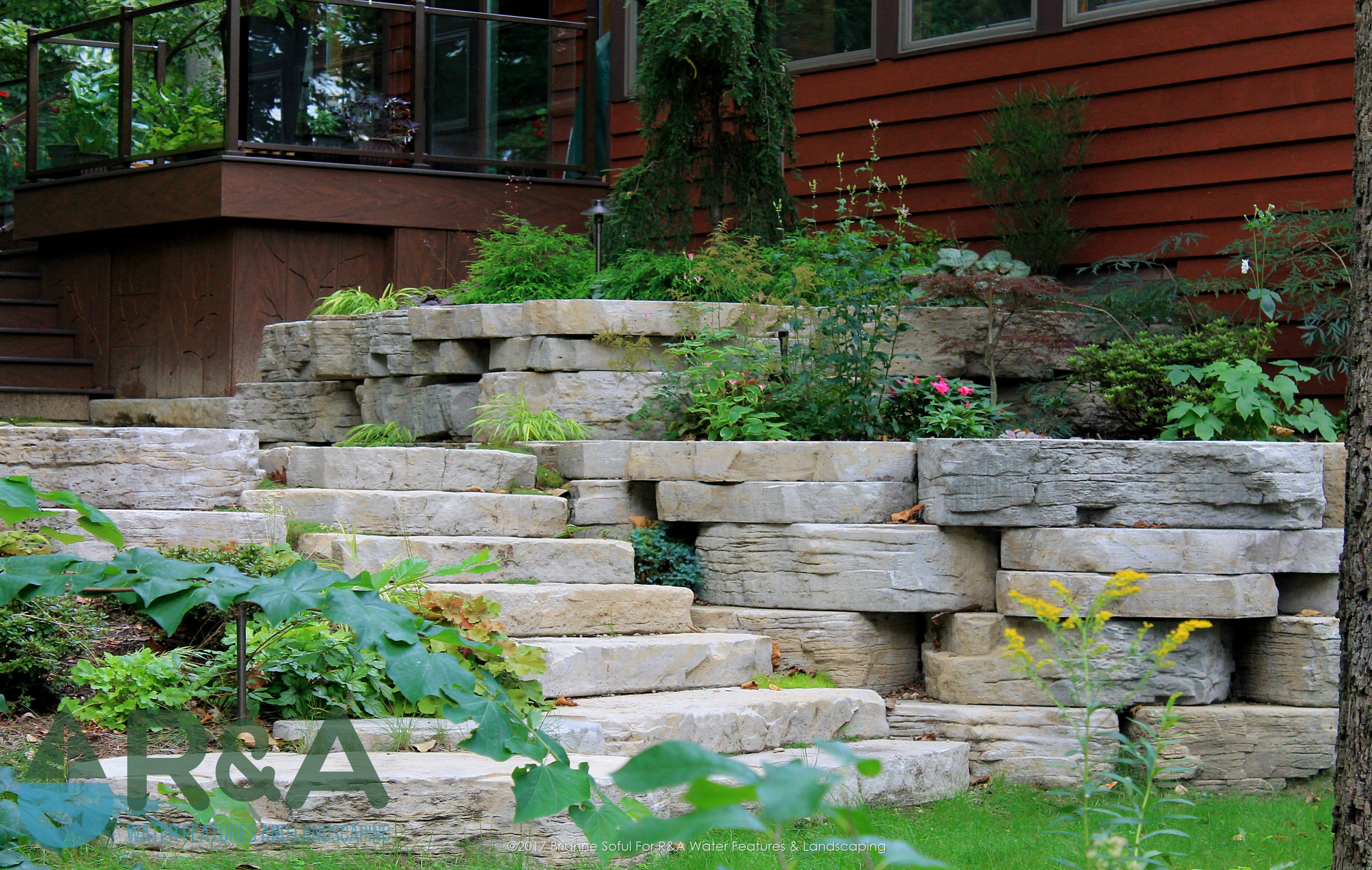Eau Claire Landscaping Retaining Wall Steps Deck (13)