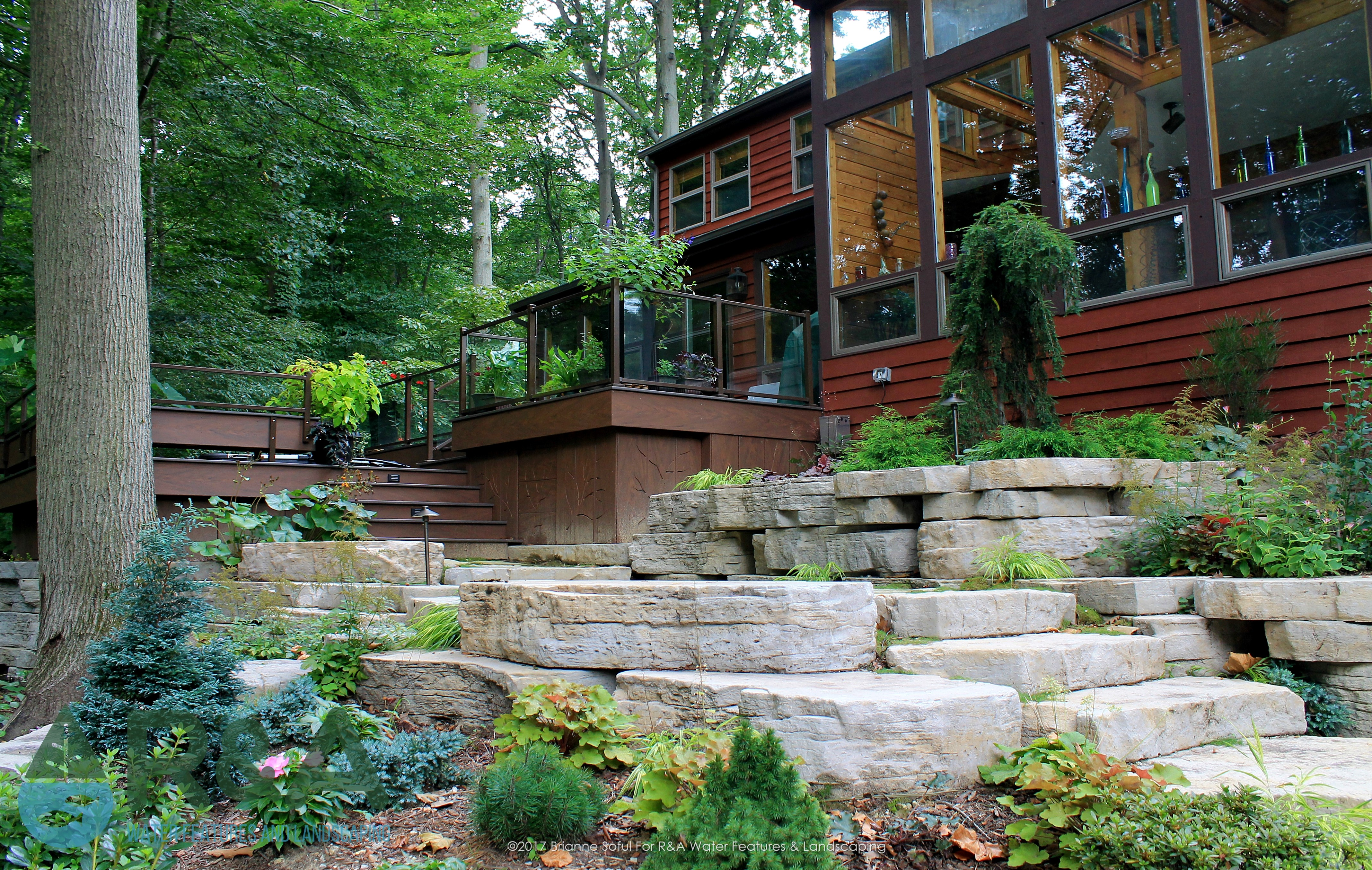 Eau Claire Landscaping Retaining Wall Steps Deck (8)