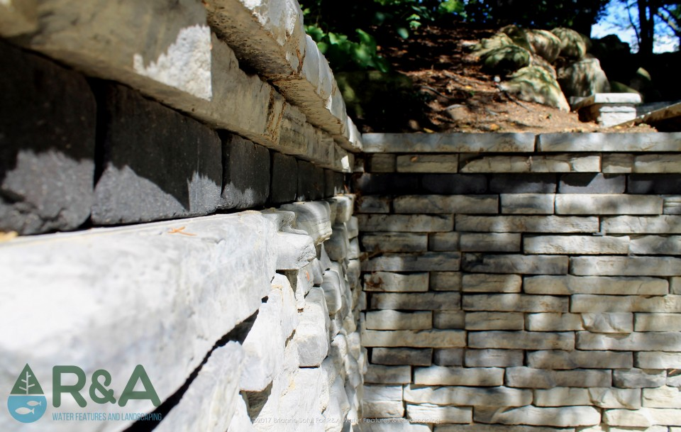 Gull Lake Retaining Wall Renovation Landscape
