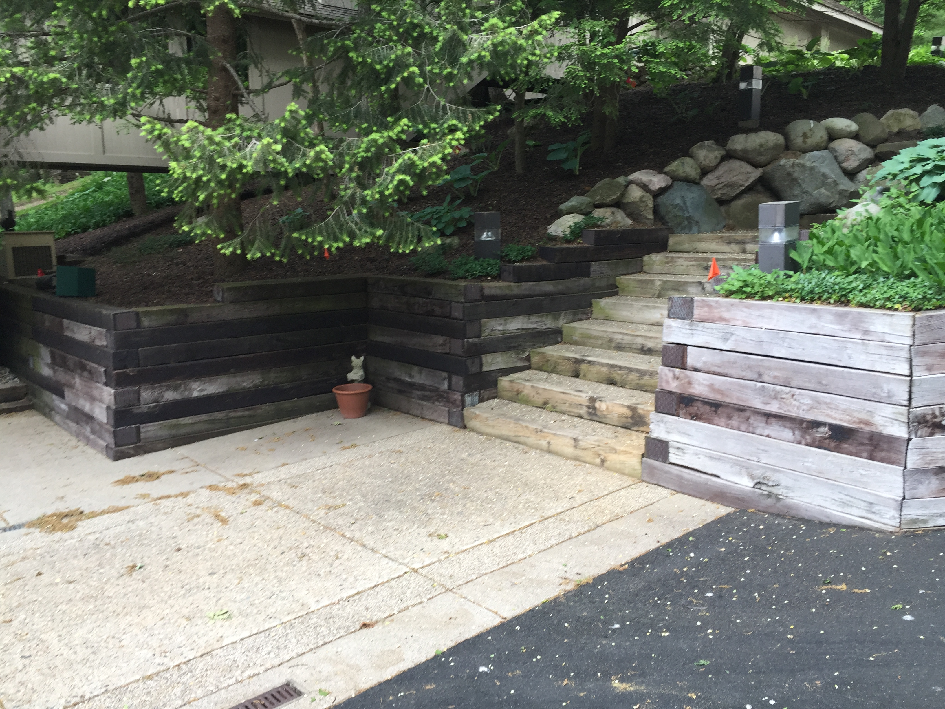 Gull Lake Retaining Wall Renovation Landscaping 2