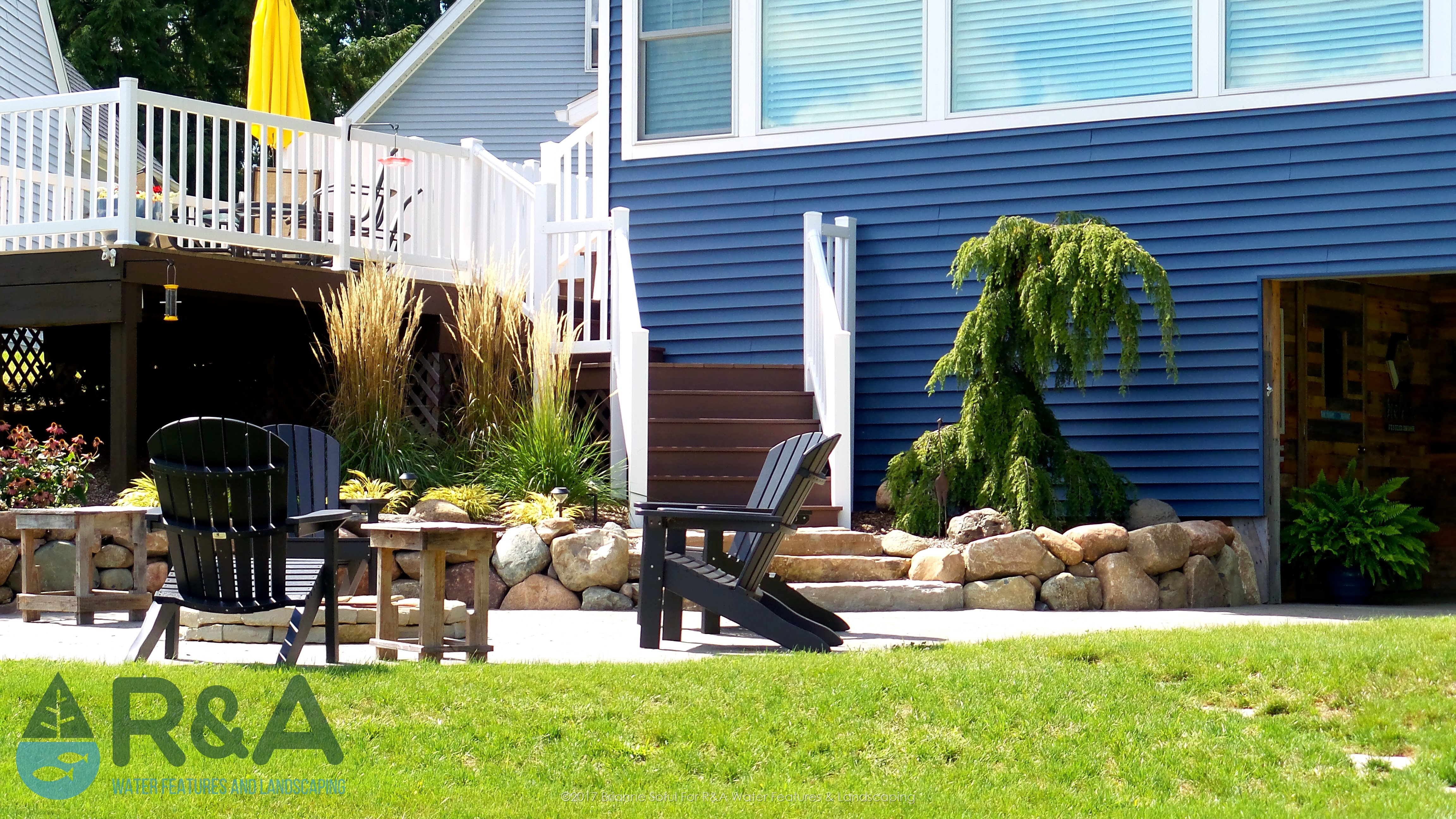Richland Landscaping Patio Fire Pit Retaining Wall Steps (1)