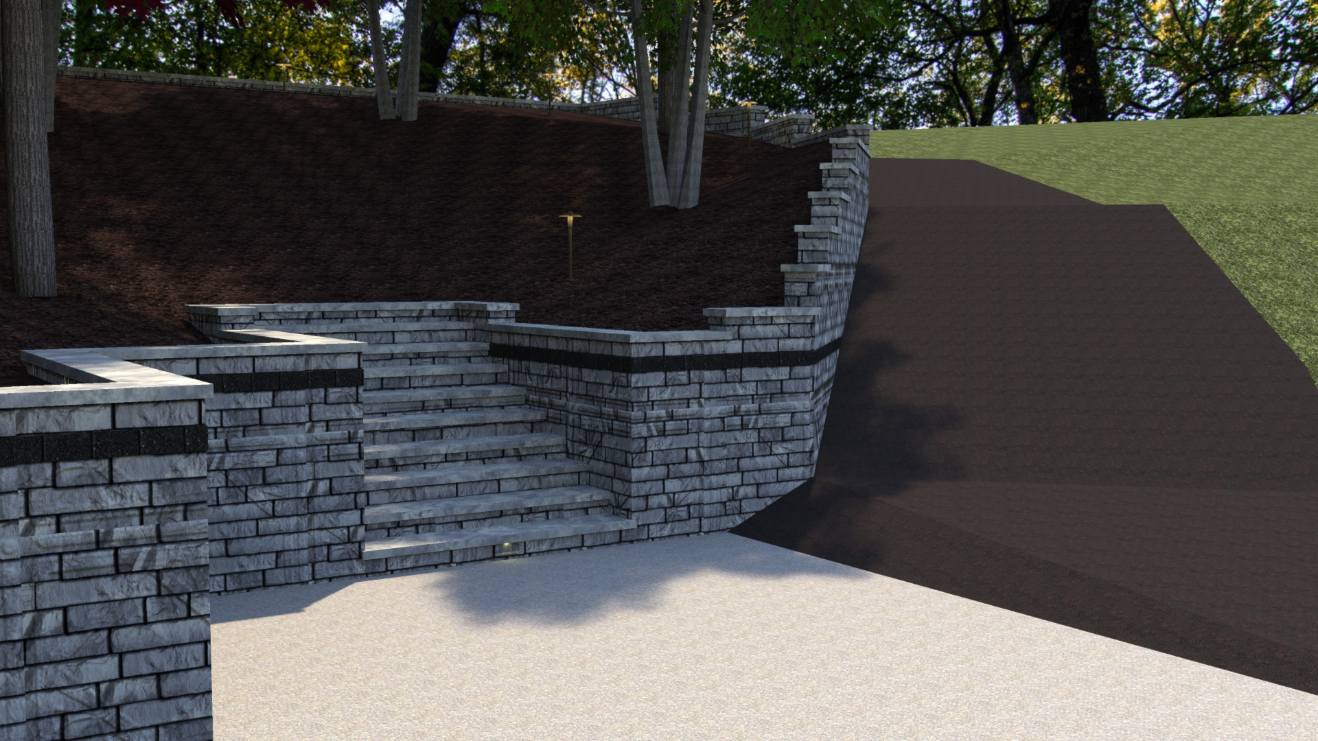 Gull Lake Retaining Wall Renovation 1