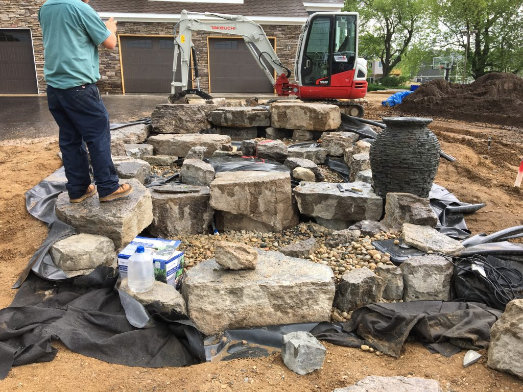 renovating a pond can be a big project
