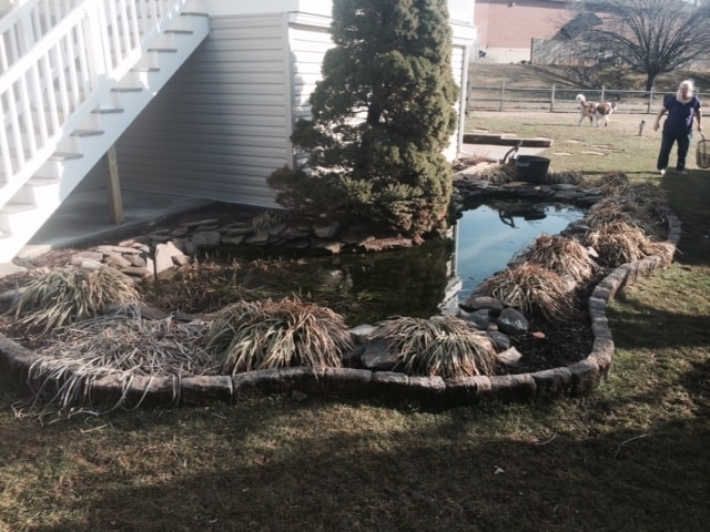 RA Pond Renovation Before