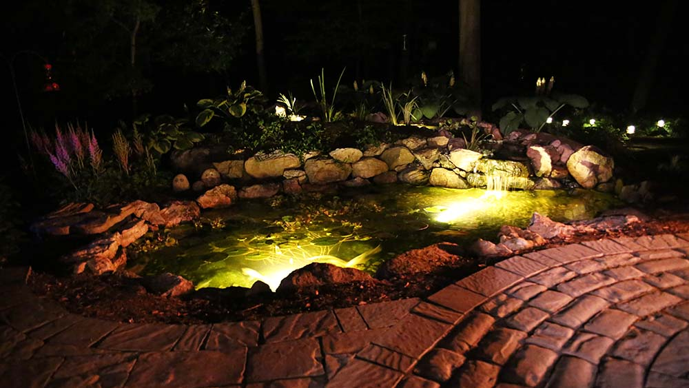 Backyard Water Feature LED Lighting Grand Rapids